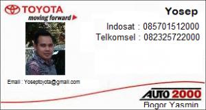 Sales Toyota Auto2000 Bogor Yasmin
